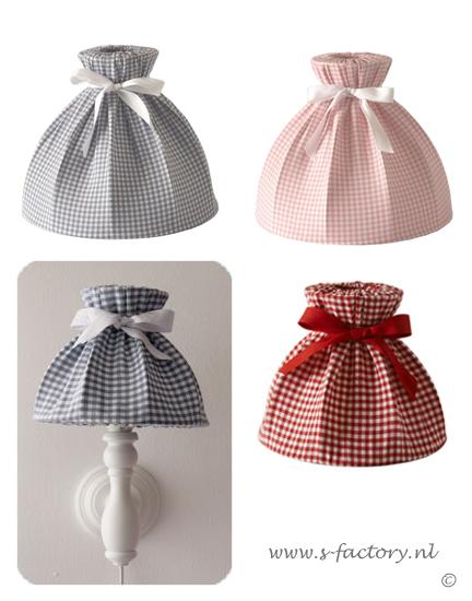 ... lampenkapjes rood, roze, grijs van Dynamic Comfort, L&L Kids